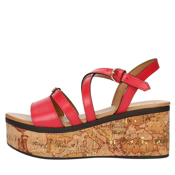 Alviero Martini Prima Classe SANDALS WITH WEDGE Red