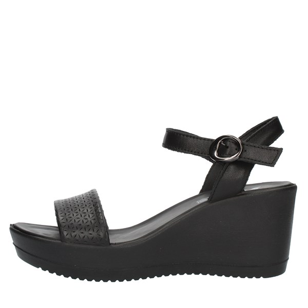 Imac SANDALS WITH WEDGE Black