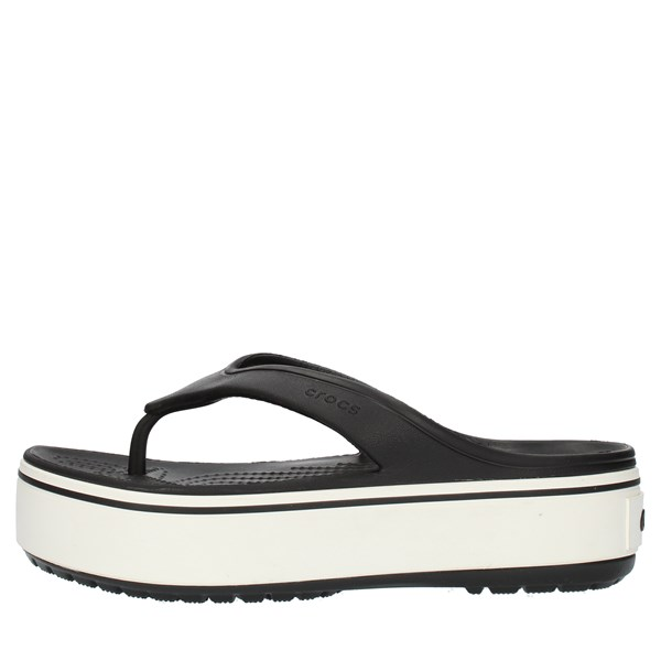 Crocs Sandals Flops 205681 Black and white