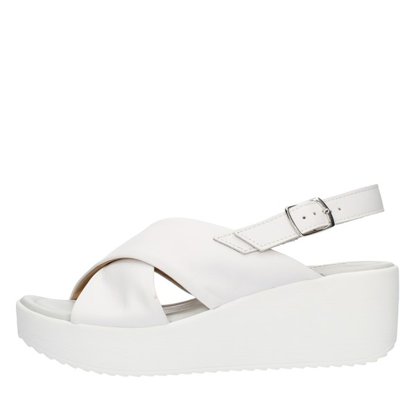 Bio Natura SANDALS WITH WEDGE White