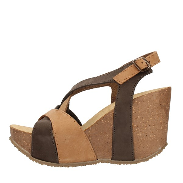 Bio Natura SANDALS WITH WEDGE multicolored