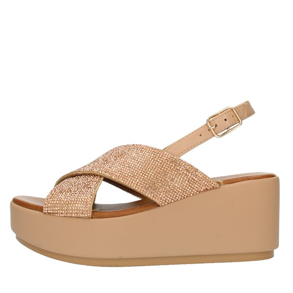 Inuovo SANDALS WITH WEDGE Rose