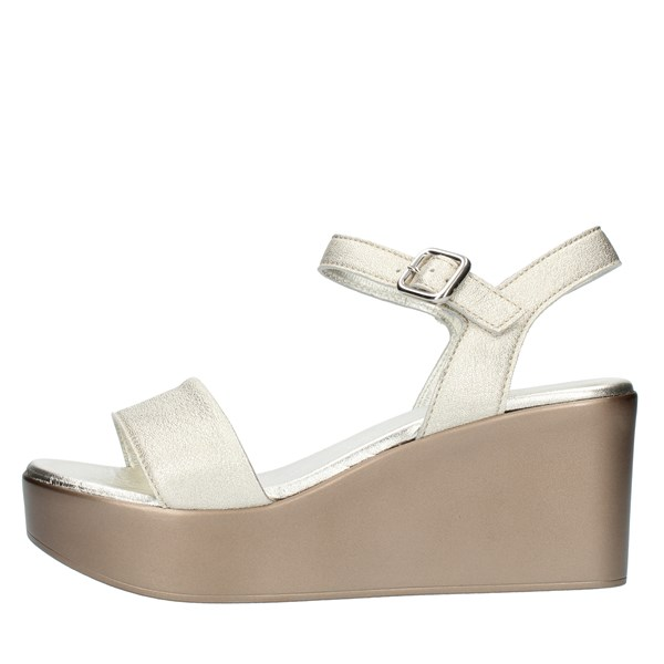 Frau SANDALS WITH WEDGE Platinum