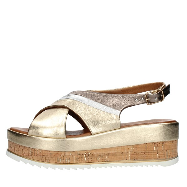 Inuovo SANDALS WITH WEDGE multicolored