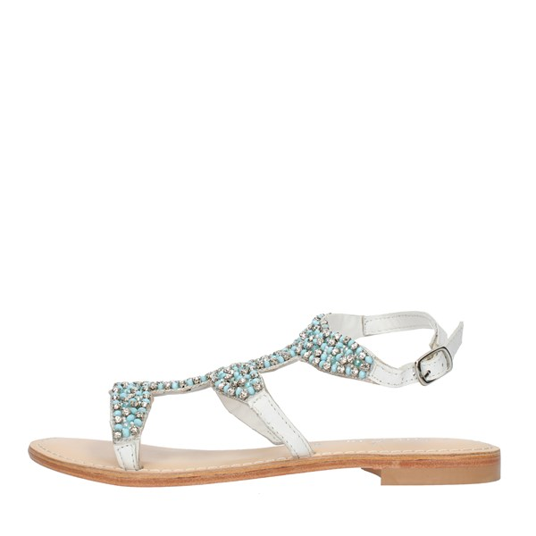 Cristin  Sandals CATRIN9 White and blue
