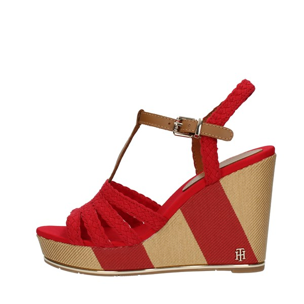 Tommy Hilfiger SANDALS WITH WEDGE Red
