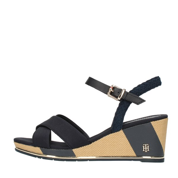 Tommy Hilfiger SANDALS WITH WEDGE Blue