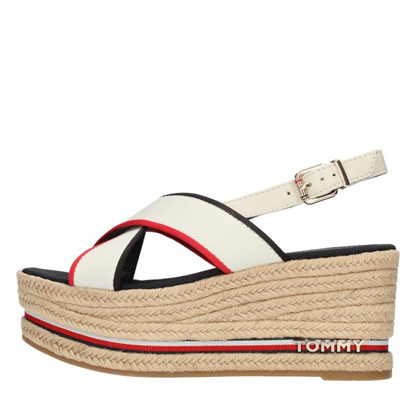 Tommy Hilfiger SANDALS WITH WEDGE White