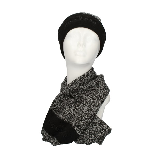 John RICHMOND Scarf and hat multicolored