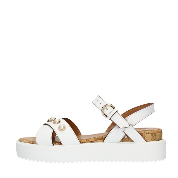 Alviero Martini Prima Classe SANDALS WITH WEDGE White