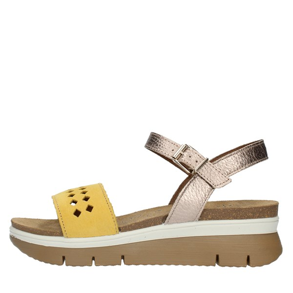 Imac Sandals  With wedge 509190 Yellow and bronze