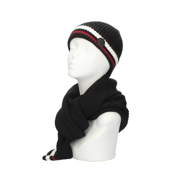 John RICHMOND Scarf and hat Black