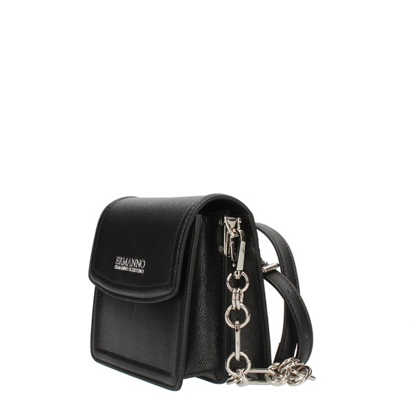 ERMANNO SCERVINO Shoulder straps & Messenger Black