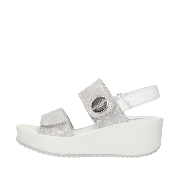 Igi&co SANDALS WITH WEDGE Silver