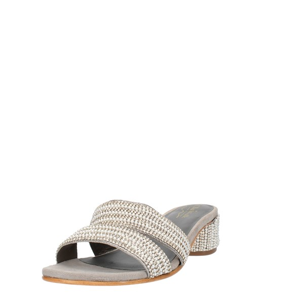 Clia Walk Shoes Woman SANDALS WITH HEEL Grey CHIC7