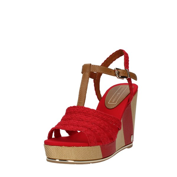Tommy Hilfiger Shoes Woman SANDALS WITH WEDGE Red FW0FW0934