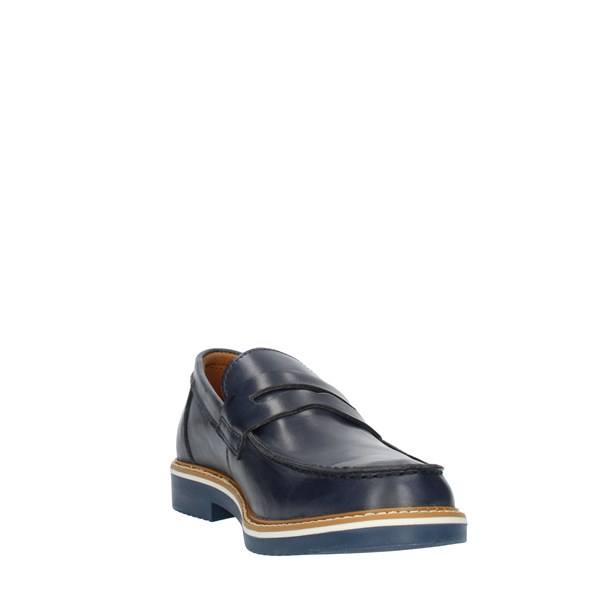 Imac Shoes Man Loafers Blue 157033