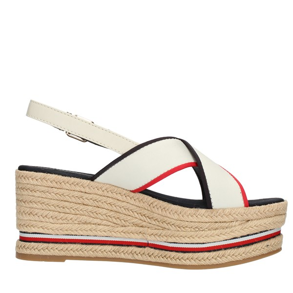 Tommy Hilfiger Shoes Woman SANDALS WITH WEDGE White FW0FW04025