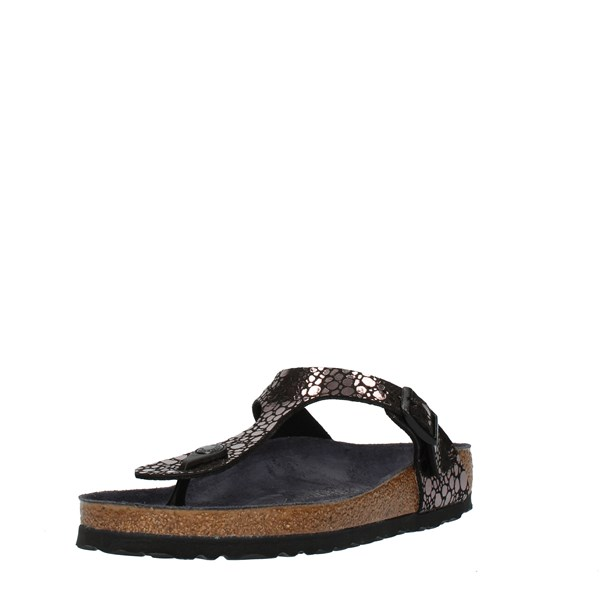 Birkenstock Shoes Woman FLIP FLOPS Black 1008