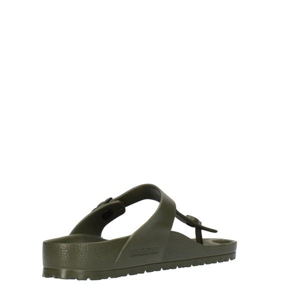Birkenstock Shoes Unisex FLIP FLOPS Green 0128