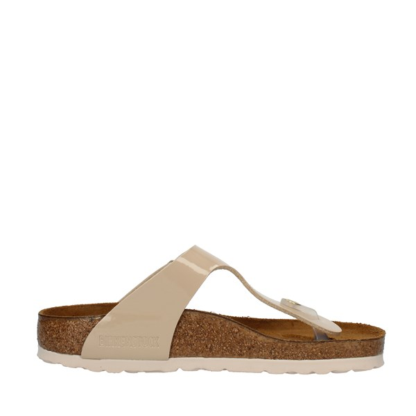 Birkenstock Shoes Woman FLIP FLOPS Beige 1013